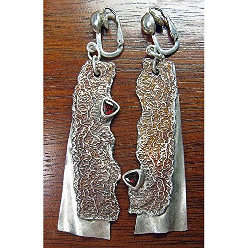 Erin Earring Orecchini Lunghi da Donna con Pendente A Forma di Coltello A Forma di Orecchini A Clip con Orecchini Pendenti in Argento Indiano con Orecchini Z3D381