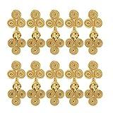 Tenlacum 10 juegos de botones de cierre de nudo de rana china, varios colores, para costura, casual, Cheongsam Wear (dorado)