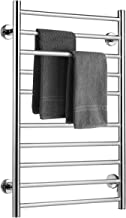 Tangkula Towel Warmer, Home Bathroom 10 Bar Stainless Steel Space Saving Plug-in Wall Mounted Cloth Towel Heated Drying Rack (20