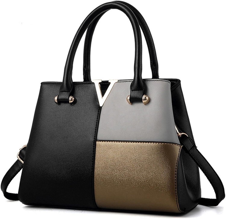 Women Handbags,Classic Patchwork Large Capacity Crossbody Shoulder Bag Tote Bag