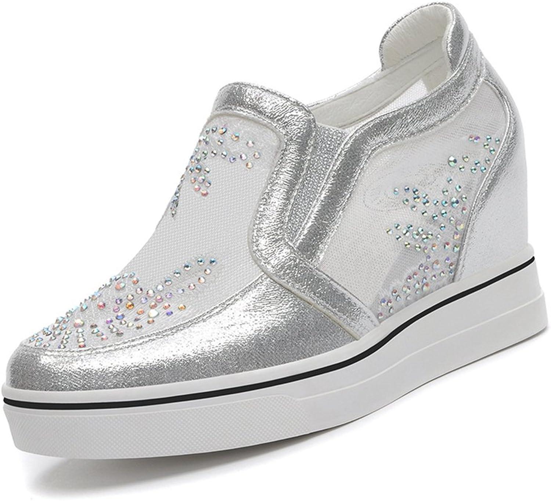 U -MAC kvinnor skor skor Round Toe Toe Toe Platform Wedge skor Andningsverkbara platta skor  vara i stor efterfrågan
