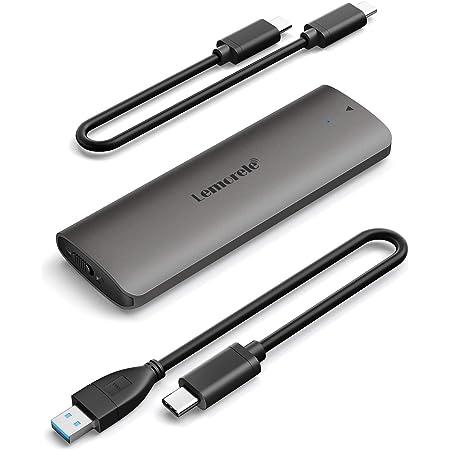 M.2 NVMe Carcasa USB 3.1 de Disco Duro, Lemorele Tool-Free Caja SSD de Disco Duro a NVMe M.2 PCI-E M Key/B&M key, Adaptador M.2 NVMe USB C 3.1 Gen2 (10 Gbps), Soporta (2230 / 2242 / 2260 / 2280)