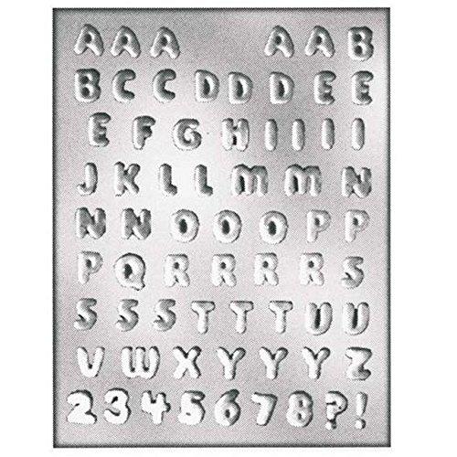 Silikomart 70.080.99.0060 9014241 bakvorm multicavité voor chocolade/gelei-thema alfabet/cijfers kunststof/PETG transparant 0,5 x 20,5 x 32,5 cm