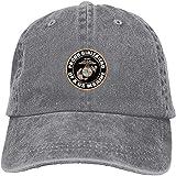 Orgullosa Novia Nosotros Cuerpo de Marines del Ejército Ajustable Vintage Lavado Denim Algodón Papá Sombrero Gorras de béisbol Sombrero de béisbol al aire libre Sombrero de sol gris