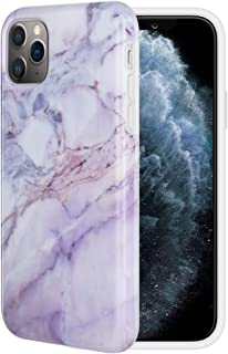 Caka Case for iPhone 11 Pro Marble Case Pink Slim Protective Soft Flexible TPU Anti Scratch Shockproof Cute Fashion Soft Rubber TPU Luxury Girls Women Marble Case for iPhone 11 Pro (5.8 inch) (Pink)