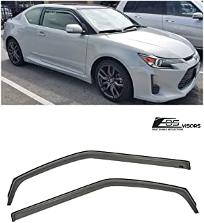 Fit 2011-2014 Scion tC smoke tint window visor shade vent wind rain deflector