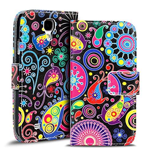 Verco Handyhülle Galaxy S4 Muster, Motiv Hülle für Samsung Galaxy S4 Book Case Flip Cover - Design 4