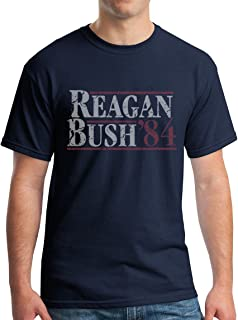 Reagan Bush 1984 Republican Presidential Election GOP T-Shirt - Vintage/Distressed