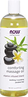 NOW Solutions, Comforting Massage Oil, Vitamin Infused Blend, Soothing and Nourishing, 16-Ounce