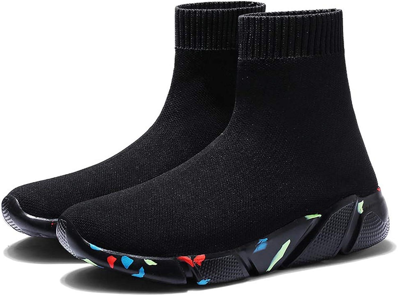 T-JULY Women Comfortable Socks shoes Female Casual Elasticity Wedge Platform Sneakers