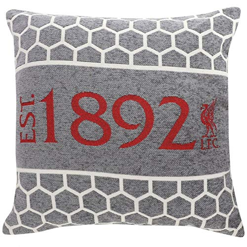 Liverpool FC Grey Chenille Cushion LFC Official