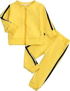 Kids Toddler Baby Boys Girls Fall Clothes Outfit Long Sleeve Zipper Hoodie Sweatshirt Shirt+Pants Winter Clothing Set