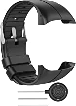 RuenTech Bands for Polar M400 / M430 Watch Strap Replacement Soft Silicone Wristband Sports Band For Polar M400 and M430 GPS Smart Sports Watch-Black M(5.5''-8.0'')