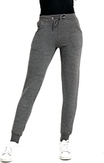 IMPORIO 11 Women Ladies Soft Fleece Ankle Ribbed Cuffed Skinny Fit Fleece Joggers Bottom Sweat Pants Tracksuit Jogging Bot...