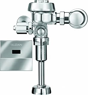 Sloan Valve ROYAL 186-1 ES-S Royal Optima Exposed Sensor Activated 1.0 GPF Urinal Flushometer for 3/4-Inch Top Spud Urinals, Chrome