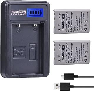 PowerTrust 2 Pack 1500mAh EN-EL5 Camera Battery and LCD USB Charger for Nikon Coolpix P530 P520 P510 P100 P500 P6000 P5100 P5000 P80 P90