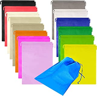FashionBoutique 15 Pack Extra Large Shoe Bags Portable Travel Shoe Bags Waterproof Non-Woven Travel Storage Bag for Men Women (Multicolour)