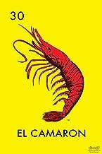 30 El Camaron Shrimp Loteria Card Mexican Bingo Lottery Laminated Dry Erase Sign Poster 12x18
