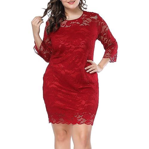 0ce5b28c51a Prior Jms Womens Plus Size Lace Mini Dress Wedding Dresses Off Shoulder  Vintage Floral for Cocktail