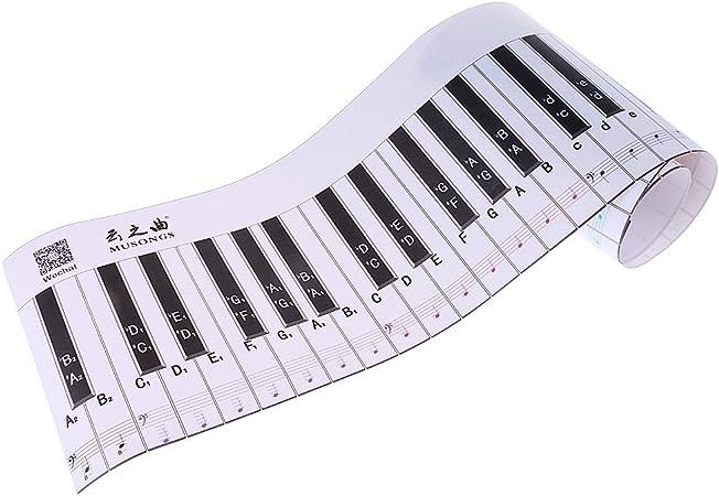Teclado de piano de papel estándar de simulación de 88 teclas para estudiantes. Versión de aprendizaje