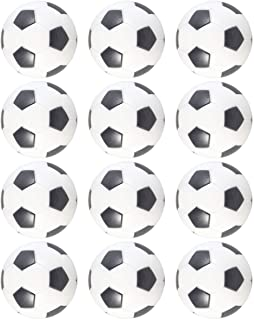 LIOOBO 12pcs Table Soccer Foosballs Mini Foosball Ball Replacement Ball Tabletop Game Ball Tabletop Football for Amusement Entertainment