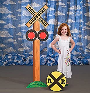 Railroad Crossing Standee Train Standee Standup Photo Op Prop Background Backdrop Party Decoration Decor Scene Setter Cardboard Cutout
