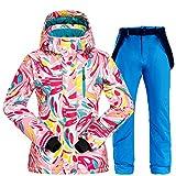 LQCN C04, warmer Skianzug für Damen, Winterjacke,...