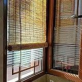 WYCD Persiana Enrollable de Bambú,Estor Decorativo, Anti-UV, Transpirable, para Habitación de Té con Balcón, Incluye Set de Montaje, Se Puede Personalizar