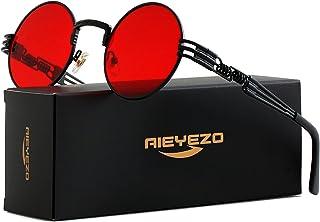 عینک آفتابی گرد Steampunk عینک آفتابی جان لنون Hippie Frame 100٪ لنز مسدود کننده UV