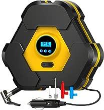 NOOX 12v DC Portable Air Compressor Car Pump Digital Tire Inflator Automotive Accessories Safty Tool with Big LED Light Long Cord 150 PSI