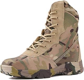 Wygwlg Botas de Combate Militares de Camuflaje con Cordones para Hombres Zapatos de Entrenamiento tácticos Impermeables Bo...