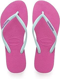 Women's Slim Logo Pop Up Multicolored Flip-Flop Sandals
