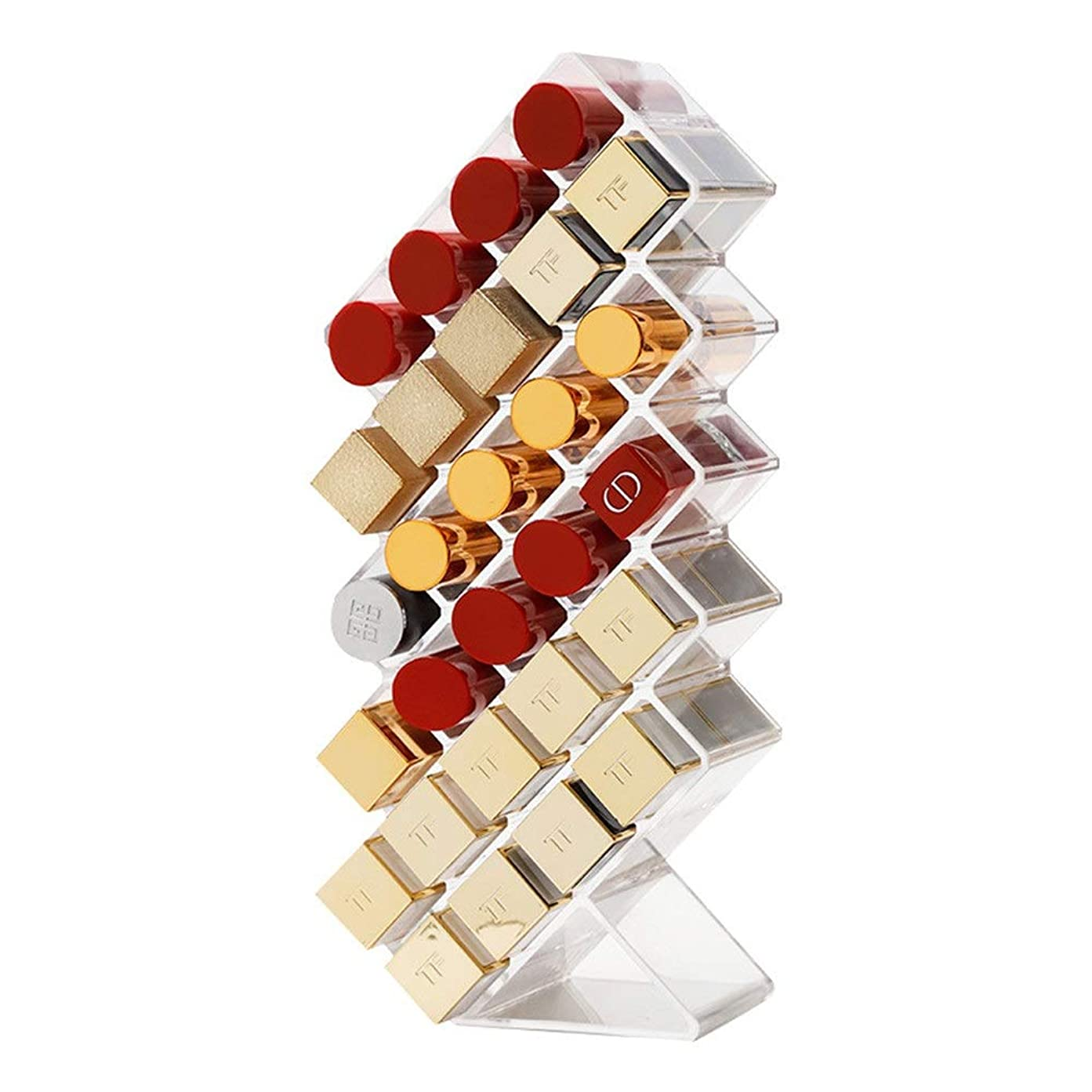 壊すミトン億化粧品収納ボックス 透明な化粧品ストレージボックスアクリル棚ディスプレイスタンドを仕上げ口紅ストレージボックスマルチグリッドドレッシングテーブル 収納 アクリルケース レディース (Color : Clear, Size : M)