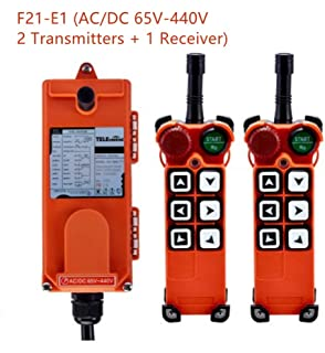 Hoist Crane Wireless remote control Double Transmitters Industrial Channel F21-E1 (AC/DC 65V-440V 2 Transmitter + 1 Receiver)
