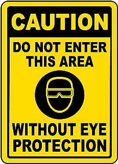 Vinly Safety Sign Decal Ultraviolet (UV) Light Warning Label Danger Notice Warning Safe Sticker for Indoor & Outdoor Use Waterproof 7.5