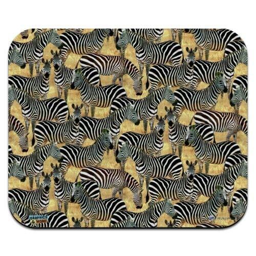 Mausmatte, African Plains Zebra Herde Weidemuster Low Profile Dünne Mauspad Mousepad, Gaming Mouse Pad
