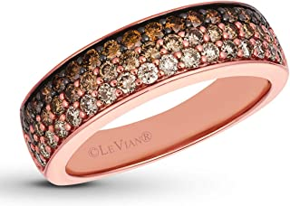 LeVian Ring Ombre Chocolate Diamonds Band 7/8 ct 14K Rose Gold Size 7