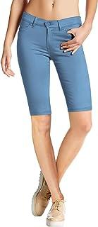 HyBrid & Company Womens Perfectly Shaping Hyper Stretch Bermuda Shorts