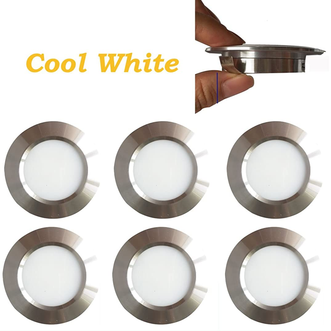 12v-LEDlight Halogen Replacement Silver Recessed Lighting Kit - Low Voltage LED Under Cabinet Lights - Long Lifespan Ceiling Light Fixtures, 3w, Bright Natural White, Pack of 6 with Bonus