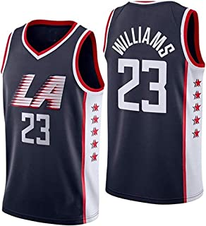 Hhwei Clippers No.23 T-Shirts Williams Sportswear in Embroidered and Breathable Mesh Jerseys Classic Retro,L