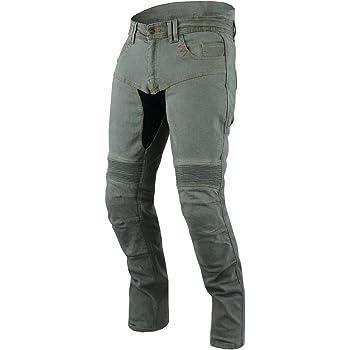 Jet Pantalon Moto Homme Jeans Kevlar Aramid avec Armure Tech Pro Bleu, UK W36 L30 // EU 52 Short