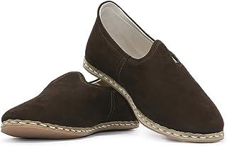 VellaPais Kahve Nubuk Zarif Ve Şık Tasarımı İle Unisex Kombin Topuksuz Ayakkabı Yemeni