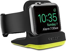 Spigen S350 Designed for Apple Watch Stand with Night Stand Mode for Series 5 / Series 4 / Series 3/2 / 1 / 44mm / 42mm / 40mm / 38mm, Patent Pending - Volt Black