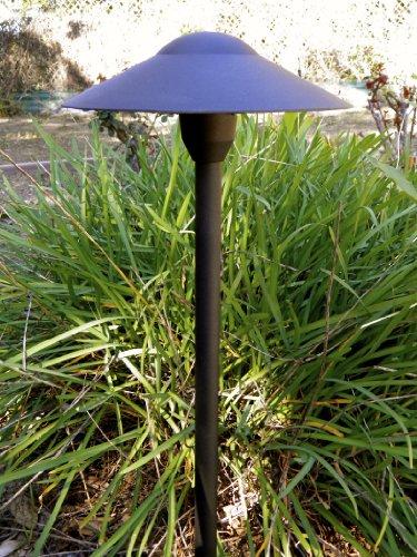 LED 12v Landscape Mushroom Light in Black Finish