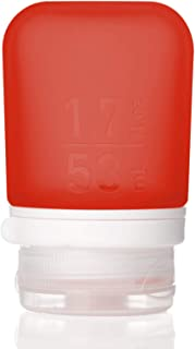 humangear Gotoob+ Silicone Travel Bottle with Locking Cap, Small (1.7oz), Red