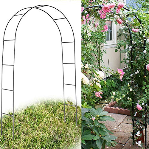 Three T Army Green Metal Garden Arch Wedding Arbor Bridal Party Decoration Prom Floral Climbing Flower, 7.5FT (2PCS)