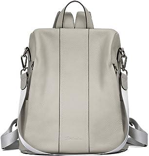 BOSTANTEN Leder-Rucksack für Frauen, Diebstahlschutz, lässige College-Tasche, modischer Reise-Rucksack, Schulter-Handtaschen