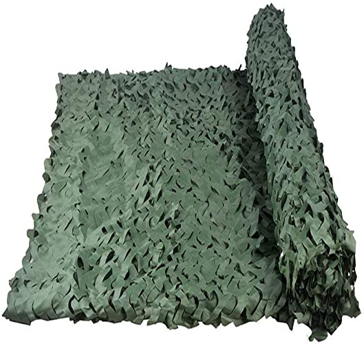 Filet de camouflage parasol multi-usage Tissu Oxford haute densité de camouflage en mode jungle avec une photographie de tente de feuille suspendue pour les fans de l'armée Multi-taille en option (Tai