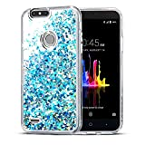 ZTE Blade Z Max Case, SuperbBeast Fashion Bling Liquid Floating Glitter Sparkle Girly Clear TPU Bumper Case for Girls Women Children ZTE Blade Z Max Z982 / Blade Zmax Pro 2 / ZTE Sequoia