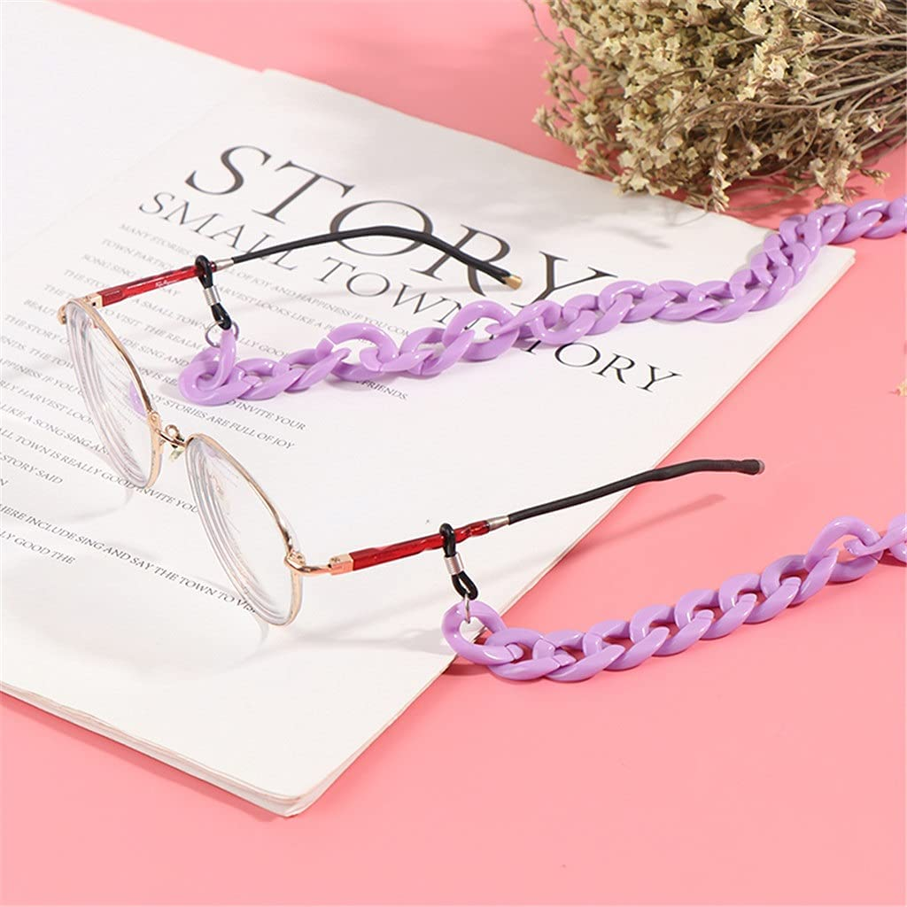 ZYKBB Women Sunglasses Chain Acrylic Reading Glasses Chains Hanging Neck Cords Holder Eyeglasses Strap Lanyards (Color : A)